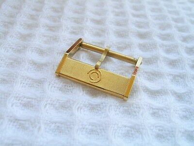 Vintage Nos 16Mm Certina Yellow Gold Plated Watch Buckle                   *5642
