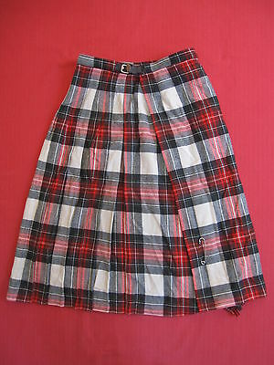 Jupe ecossaise Vintage Laird Portch Tartan Plaid Wool Kilt Skirt Scottish - 40