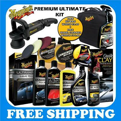New 2016 Meguiars Ultimate Starter Kit MT320 Polisher Wax Compound Polish Pads