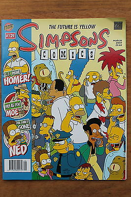 Simpsons Comics - Issue 129 - Mar 2007 - Titan Bongo TV Bart Simpson Collectable