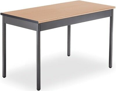 Contemporary Rectangular 24'' D x 48'' W Utility Table in Maple - Office Table
