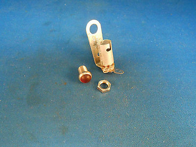 502-0530-0621-102 Dialight Red Bubble Light Ind., Screw On, Bulb G-3-1/2 Nos