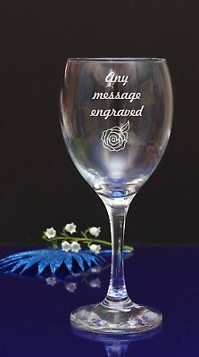 Personalised Engraved Wine Glass - Any Message Engraved by jevge