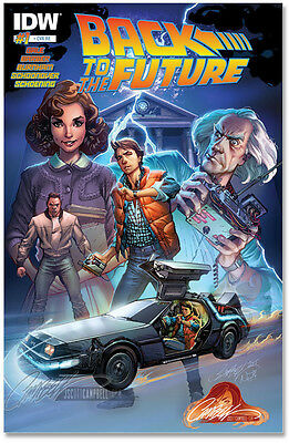 Back To The Future 1 Rare J Scott Campbell Own Exclusive Color Variant Nm Idw