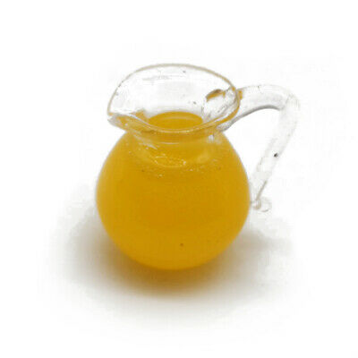 FCA207 Dollhouse Miniature Pitcher of Orange Juice with 2 Glasses ~ Refreshing!