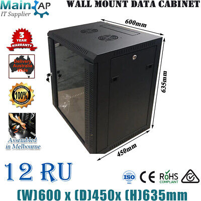 12RU 280mm DEEP 10inch WALL MOUNT COMPUTER RACK SERVER CABINET