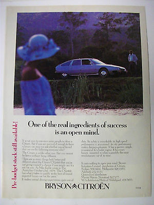 1980 Citroen Cx2400 Australian Magazine Fullpage Colour Advertisement