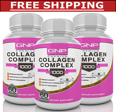 3 x Collagen - Anti Aging - Healthy Skin and Strong Nails - 180 Capsules