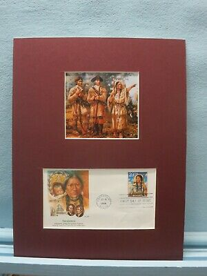 Lewis and Clark Expedition guided by Sacajawea & First day Cover of stamp