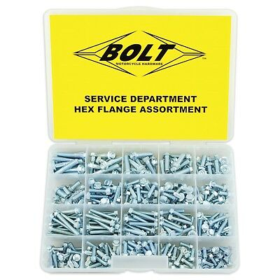 Bolt Hardware NEW Mx Flange Motocross Mechanic Service Department Assortment Kit
