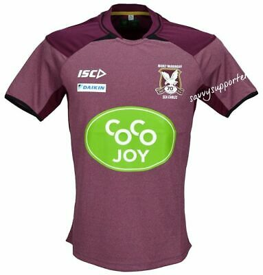 Manly Sea Eagles NRL Maroon Training Shirt 'Select Size' S-5XL BNWT