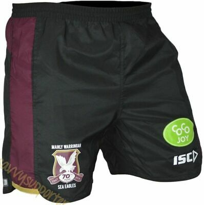 Manly Sea Eagles NRL Training Shorts 'Select Size' S-3XL BNWT66