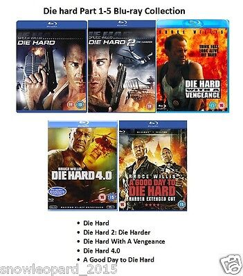 DIE HARD COMPLETE ALL MOVIE FILM COLLECTION BLU RAY PART 1 2 3 4 5 New Sealed