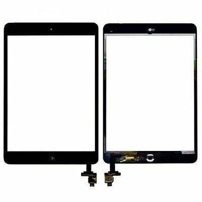 For iPad mini 1st & 2nd Glass Front Panel Digitizer with IC+Home button -Black