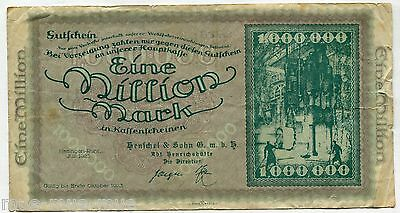 Hattingen-Ruhr 1 Mio. Mark 1923 IV
