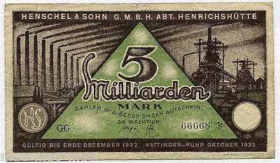 Hattingen-Ruhr 5 Mrd. Mark 1923 III-