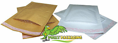 Padded Bubble Lined Envelopes / Bags / Mailers - White & Gold - All Sizes