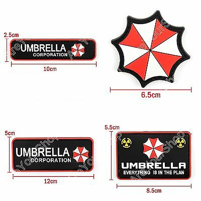 Resident Evil Umbrella Corporation Pvc Army Morale Chest Rubber Hook Loop Patch