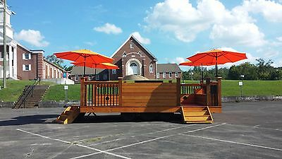 Party Deck Trailer Perfect for Weddings, Camping, Block Parties, Tailgating