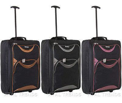 Wheeled Luggage Hand Trolley Small Travel Bag Ryan Air Cabin Suitcase Holdall
