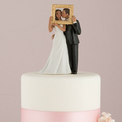 Picture Perfect Couple Wedding Cake Topper Medium Skin Tone