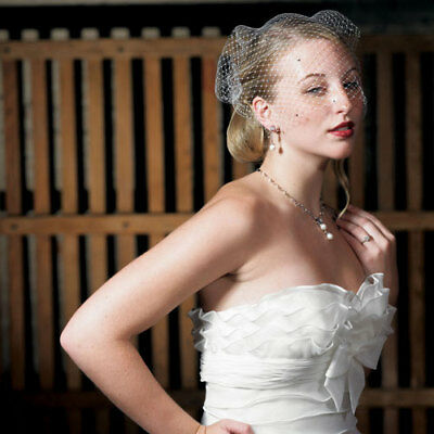 Bird Cage Style Veil White With Added Crystals Wedding