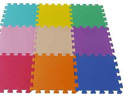 Eva Foam Interlocking Mats Floor Baby Kids Play Puzzle Gym Exercise Office Soft
