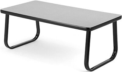 Magazine Table with Sled Base in Gray Laminate Finish - Office Table