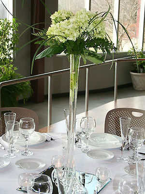 6 Pcs Clear Glass Eiffel Tower Vases 24 Tall Centerpieces Vase