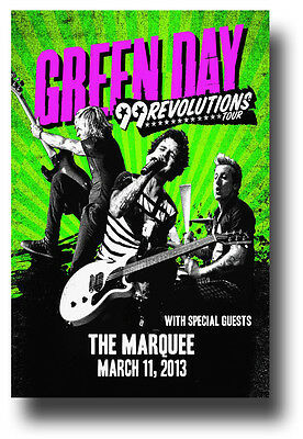 Green Day Flyer - Concert Poster GreenDay 99 Revolutions Uno Dos Tre