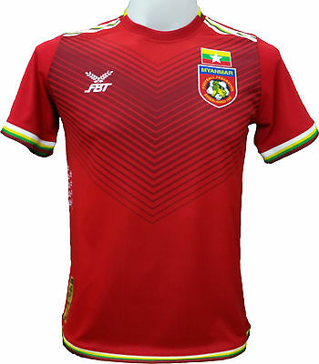 Authentic Myanmar National Football Soccer Team Genuine Jersey Shirt BNWT Red