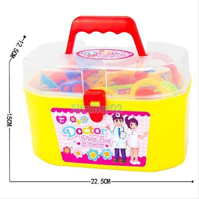 30Pcs Baby Kids Doctor Medical Play Set Carry Case Kit Education Role Play Toy G