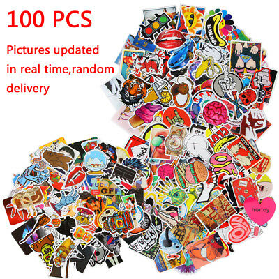 100pc Guitar Travel Case Stickers pack decal sticker Random Vinyl Skateboard