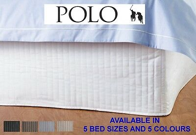 POLO Quilted Valance bed Skirt - Single, King Single, Double, Queen & King sizes