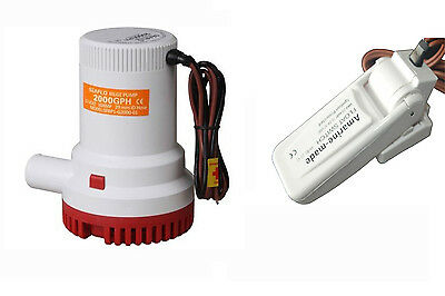 Seaflo 2000 GPH 12v  Plumbing Electric Bilge Pump with Amarine-made Float switch
