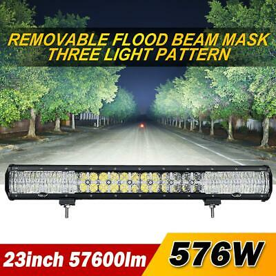 """23inch 576W LED Work Light Bar Combo DRL Offroad Boat SUV Driving ATV 20/23/28"""""""