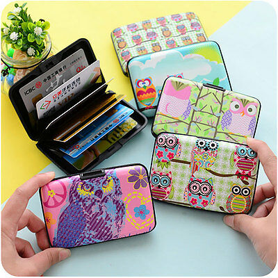 Vintage Owl Pattern Travel Passport Holder Credit ID Cards Tickets Pocket Case