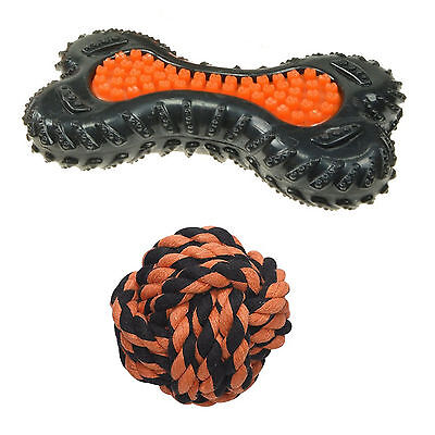 Petface Seriously Strong Heavy Duty Dental Bone Tread & Rope Ball Dog Puppy Toy