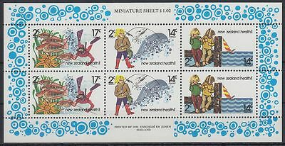 New Zealand 1980 ** Mi.804/06 Gesundheit Health Taucher Diving Fische [sq6815]