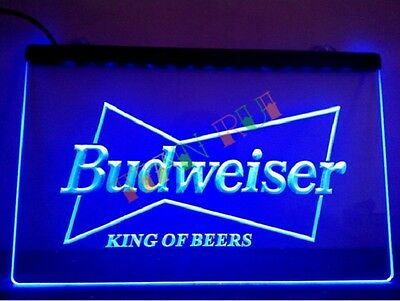 Budweiser King of Beers Pub Bar Beer Neon Light Sign 100% Satisfaction Guarantee