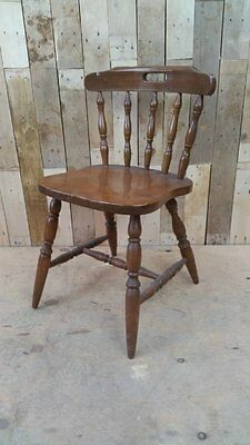 Retro Vintage Single Solid Wooden Dining / Bedroom Chair  Shabby Chic Upcycle???