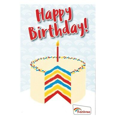 Rainbow Birthday Card Official Rainbows Uniform New