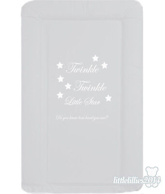 Brand New Soft Padded Deluxe Large Baby Changing Mat - Bold GreyTwinkle Twinkle