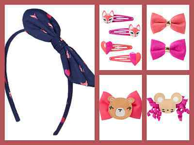 NWT Gymboree Ciao Puppy Hair Accessories Headband Clips Barretes Holders Girls
