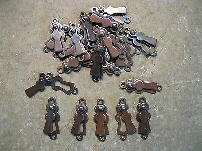 Original Brass/Copper plate.Flat Lady Key Hole Escutcheons  KH21