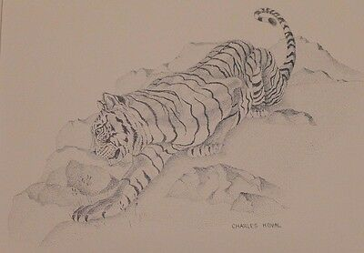 ISU Idaho State University Bengal Tiger Framed Dot Art Charles Koval Pocatello