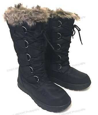 Women's Winter Boots Snow Fur Warm Insulated Waterproof Zipper Ski Shoes, Sizes