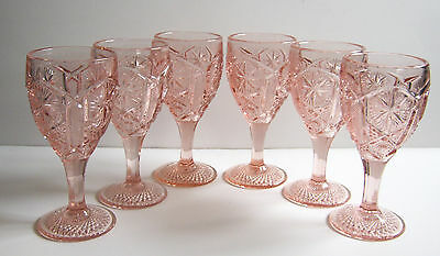 Mogul Variant-Pink Water Goblets by Imperial Glass Vintage