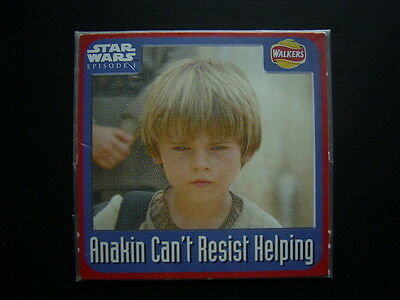 Walkers 1999 Star Wars Episode One 1 Scratch Card Sealed  Anakin (E11)