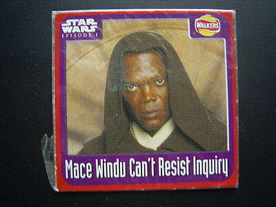 Walkers 1999 Star Wars Episode One 1 Scratch Card Sealed  Mace Windu (E11)